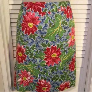 Talbots sz 10 floral skirt